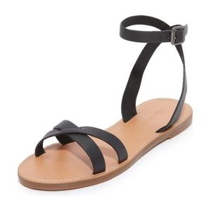 MADEWELL Boardwalk Ankle Wrap Sandals 7.5